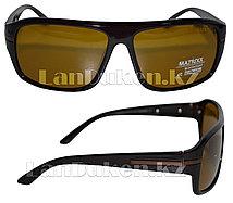Антибликовые очки с коричневой, глянцевой оправой Matrixx Polaroid