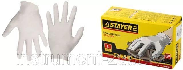 """Перчатки STAYER """"MASTER"""" латексные экстратонкие, размер L, упаковка 100шт                                                                             , фото 2"""