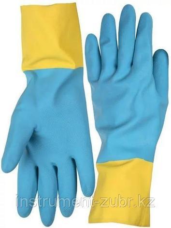 Перчатки STAYER латексные с неопреновым покрытием, экстрастойкие, с х/б напылением, размер S                            , фото 2