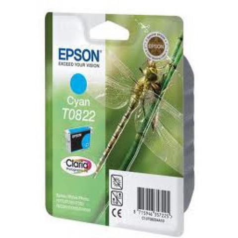Картридж Epson C13T11224A10 (0822) R270/290/RX590 голубой