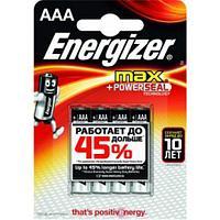 Элемент питания Energizer MAX LR03 AAA Alkaline 4 штуки в блистере