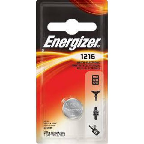 Элемент питания Energizer CR1216 1 штука в блистере