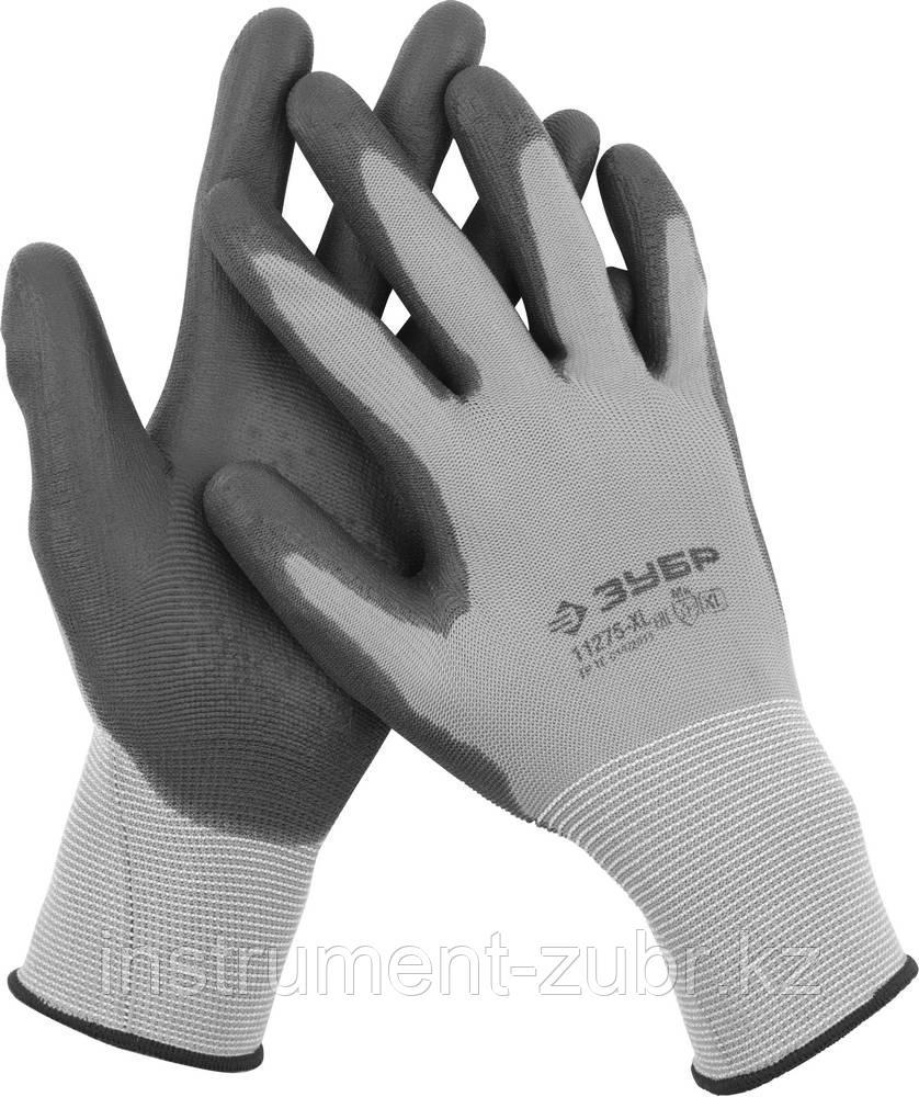 """Перчатки ЗУБР """"МАСТЕР"""" для точных работ с полиуретановым покрытием, размер XL (10)"""