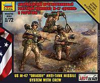 """Сборная модель Американский противотанковый ракетный комплекс М-47 """"Дракон"""" с расчетом, фото 1"""