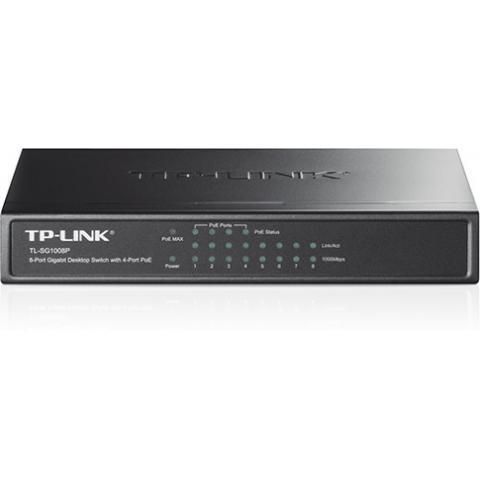 Коммутатор 8 портовый TP-Link TL-SG1008P Настольный
