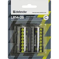 Элемент питания Defender LR14-C Alkaline LR14-2B 2 штуки в блистер