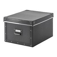 Коробка с крышкой ФЬЕЛЛА коричневый ИКЕА, IKEA , фото 1