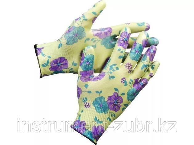 Перчатки GRINDA садовые, прозрачное нитриловое покрытие, размер L-XL, зеленые, фото 2