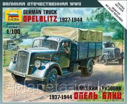Сборная модель немецкий грузовик Опель Блиц 1937-1944 1\100 арт 6126