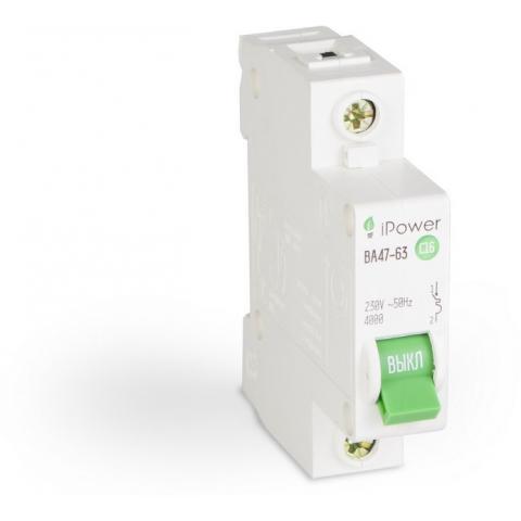 Автоматический выключатель iPower ВА47-63 1Р 63А Реечный