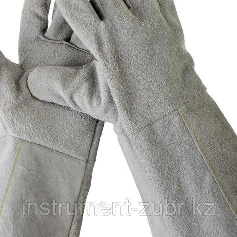 Краги СИБИН из спилка, XL, длина-350мм, фото 2