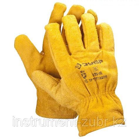 """Перчатки ЗУБР """"МАСТЕР"""" кожаные рабочие, с подкладкой, XL                                                                                              , фото 2"""