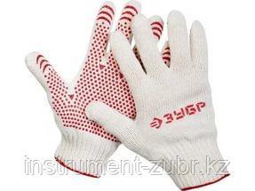 """Перчатки ЗУБР """"МАСТЕР"""" трикотажные, 7 класс, х/б, с защитой от скольжения, S-M, фото 2"""