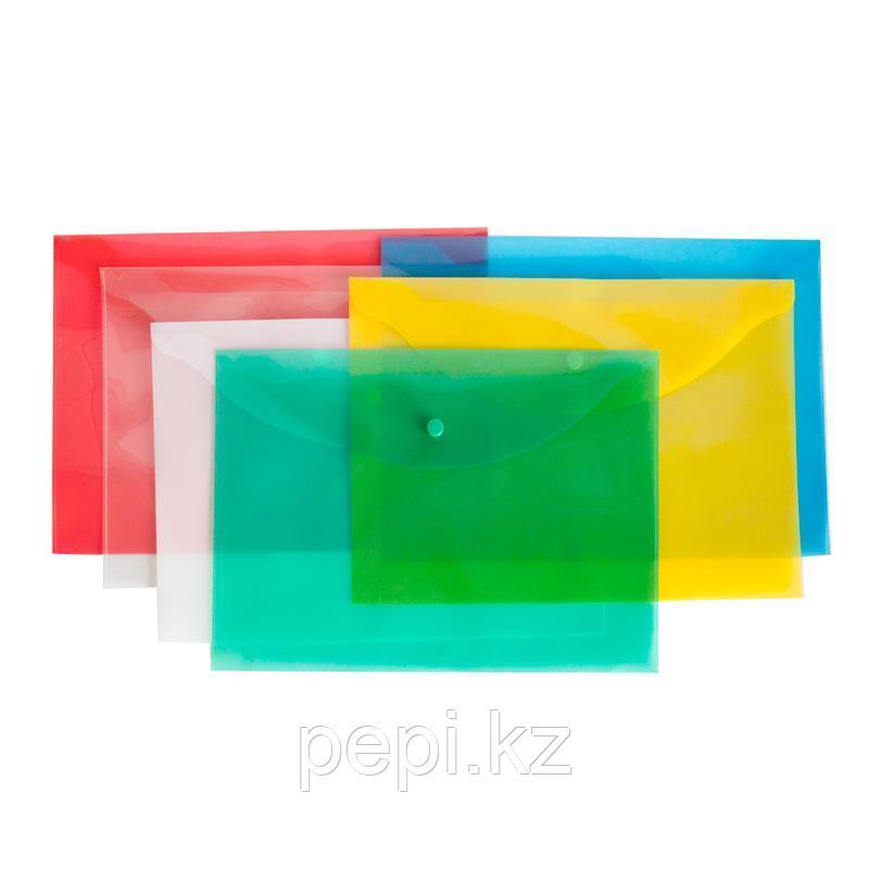 Папка пластиковая на кнопке A4 Канцфайл КНК-180-ПП 0,18мм
