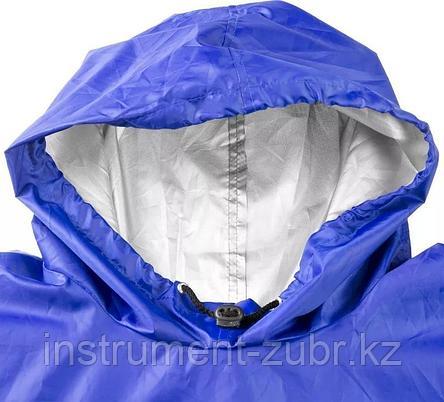 Плащ-дождевик ЗУБР 11615, нейлоновый, синий цвет, универсальный размер S-XL, фото 2