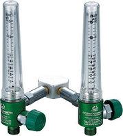 Кислородный регулятор / указатель потока сдвоенный 0-5 л/мин, фото 1