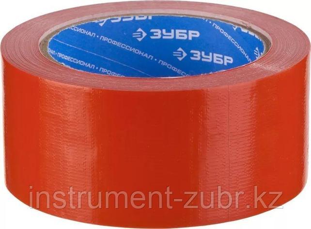 Армированная лента, ЗУБР Профессионал 12094-50-25, универсальная, влагостойкая, 48мм х 25м, красная, фото 2