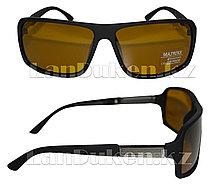 Антибликовые очки с черной, матовой оправой Matrixx Polaroid
