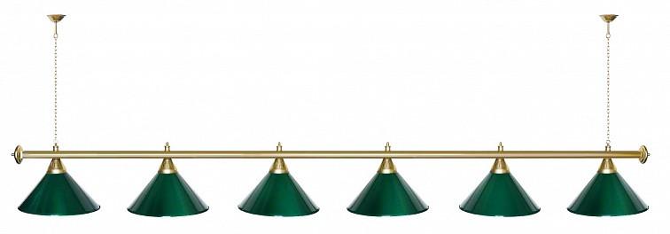 Startbilliards, 6 плафонов, зеленый/золото