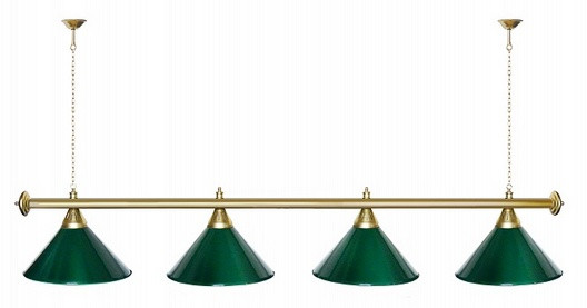 Startbilliards, 4 плафона,зеленый/золото