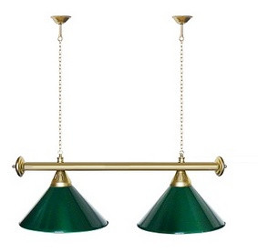 Startbilliards, 2 плафона,зеленый/золото