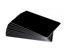 Чистые черные карты из PVC-U с матовым покрытием - 0.50mm, 5 пачек по 100 карт