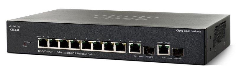 Коммутатор Cisco SG350-10MP-K9-EU