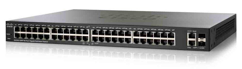 Коммутатор Cisco SG200-50FP-EU