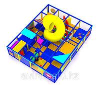 Трехярусный детский игровой лабиринт Морской