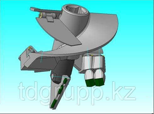 Бур БЛ-250 мм. БК-01203.25.000 под квадрат 62 мм для БКМ