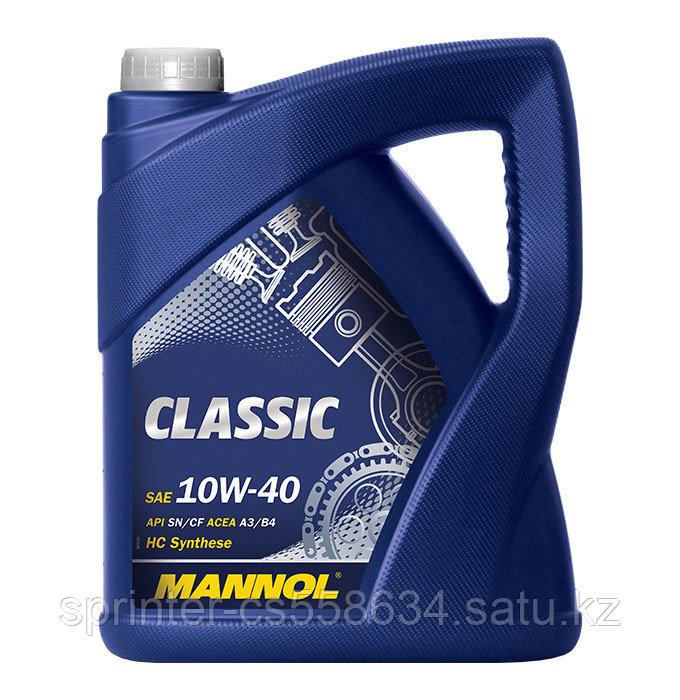 Моторное масло MANNOL Classic 10W40 5 литров