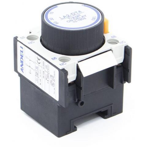 Блок дополнительных контактов с таймером ANDELI LA3-DR4 (10-180s) OFF