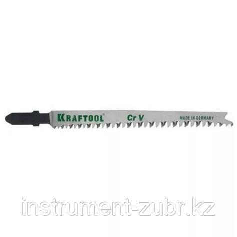 Полотна KRAFTOOL, T345XF, для эл/лобзика, Bi-Metall,универ.: по нерж.стали, дереву с гвоздями, EU-хвост., шаг 1,8-2,5мм, 110мм, 2шт, фото 2