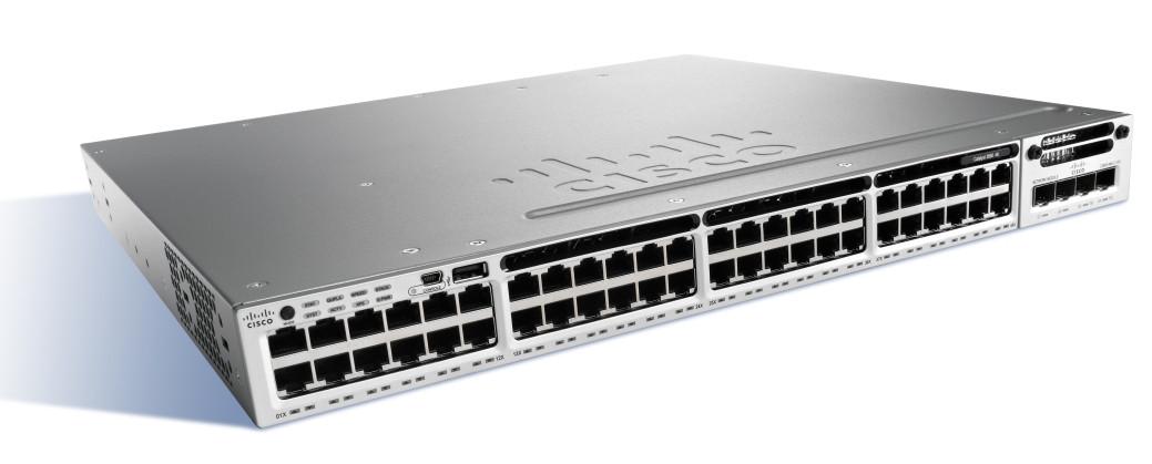 Коммутатор Cisco Catalyst 3850 48 Port Full PoE w/ 5 AP license IP Base