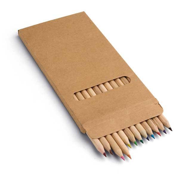 Коробка с 12 цветными карандашами, CROCO