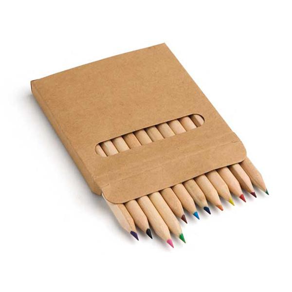 Коробка с 12 цветными карандашами, COLOURED