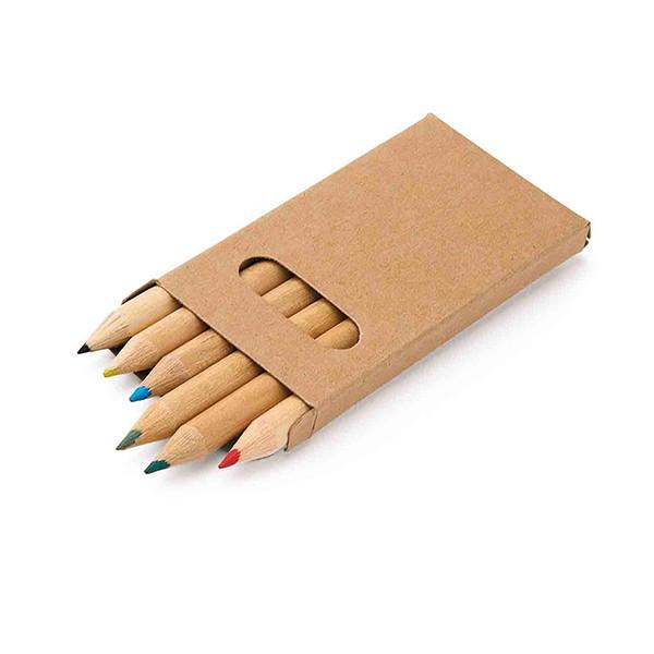 Коробка с 6 цветными карандашами, BIRD