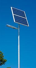 Уличный фонарь, светильник на солнечных панелях СКУ 20,40, 60,80,100, 120, 150 ватт. Монтаж, установка.
