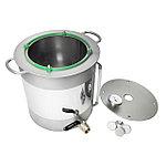 Испарительный куб 25 литров, с краном и уровнем жидкости. Идеально подходит для использования на индукционной плите.