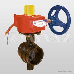 Поворотный клапан с соединением грувлок / модель ABV-G300