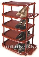 Этажерка для обуви большая 5 полок коричневая 08002
