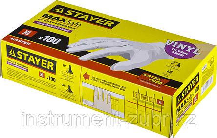 """Перчатки STAYER """"MASTER"""" виниловые экстратонкие, M, 100шт, фото 2"""