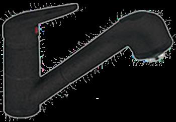 Смеситель с душем черный Smeg MD10А2