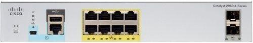 Коммутатор Catalyst 2960L 8 port GigE with PoE, 2 x 1G SFP, LAN Lite