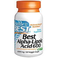 Doctor's Best, Альфа-липоевая кислота  600 мг, 60 капсул.