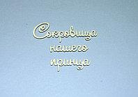 """Чипборд """"Сокровища нашего принца"""""""
