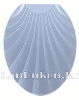 Сидение с крышкой для унитаза и крепленьями Ракушка 1022 (голубая)