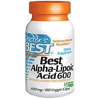 Doctor's Best, Альфа-липоевая кислота  600 мг, 180 капсул.