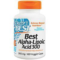 Doctor's Best, Альфа-липоевая кислота  300 мг, 180 капсул.