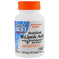 Doctor's Best, Стабилизирующая R-липоевая кислота 100 мг, 60  капсул., фото 1